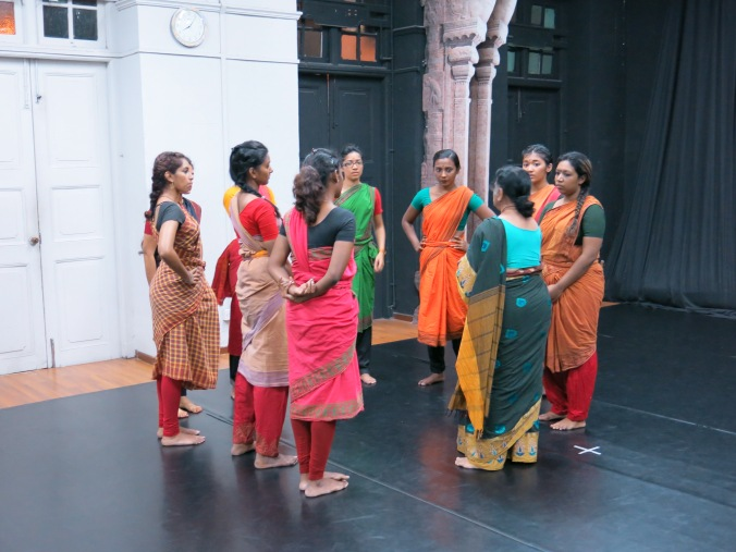 Mrs Bhaskar giving instructions to the dancers